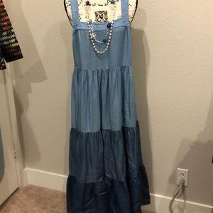 Kate Spade New York maxi dress shade of blue XL